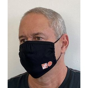 Cloth Face Mask Nose Bunch w/ adjustable silicone toggles - Heat Transfer
